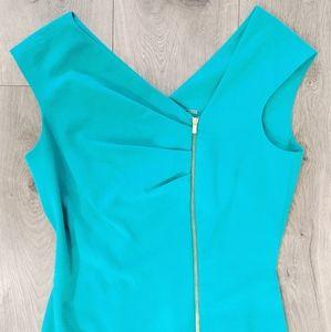 Calvin Klein green fitted zip-up dress